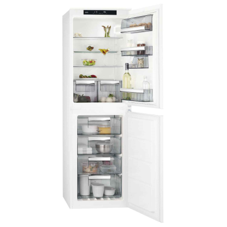 AEG SCS8181ENS, Built-In 54cm Frost Free Fridge Freezer GreyWhite