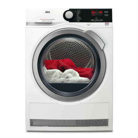 AEG T7DEE832R, 85x60x60 8kg Heat Pump Condenser Dryer White