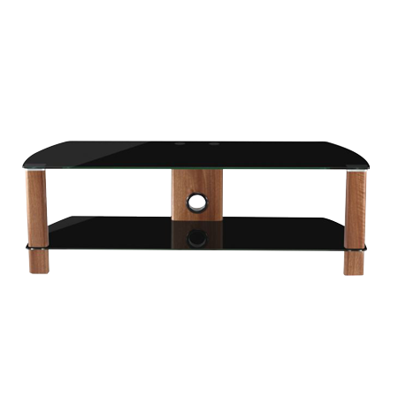Alphason ADCE1500BLK, Century Stand 1500 for 10 to 65 TV screens Black GlassWalnut