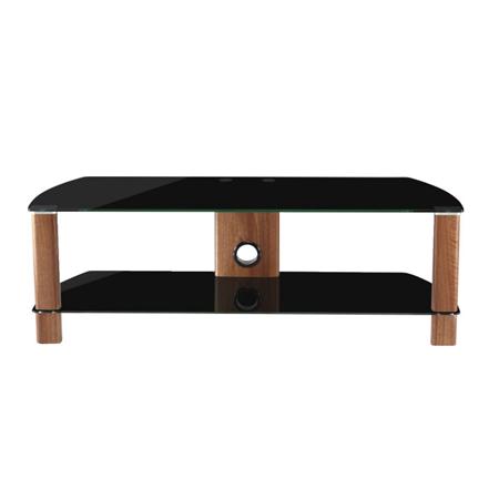 Alphason ADCE1500BLK, Century Stand 1500 for 10 to 65 TV screens Black GlassWalnut