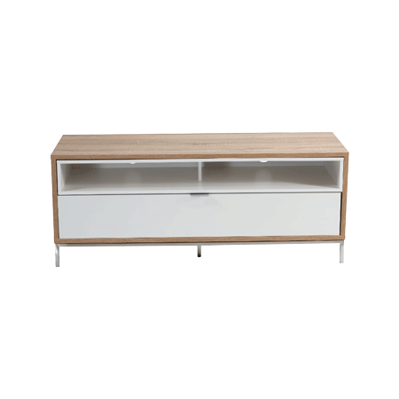 Alphason ADCH1135WHT, Chaplin Cabinet 1135 White and Light Oak for TVs up to 60