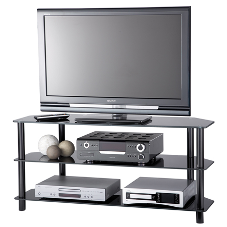 Alphason AE1000B, 3 Glass Shelf Support for Plasma / LCD Screens up to 42