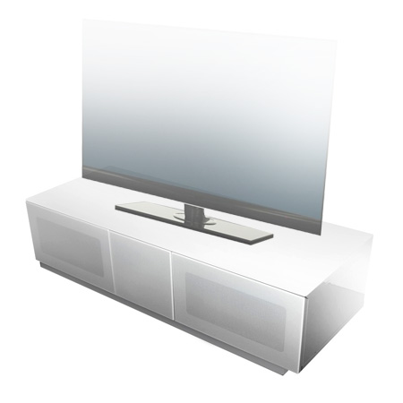 Alphason EMT1250CB-WHT, Element Series TV Stand with Media Storage Suitable for Flat Screen TVs up to 60