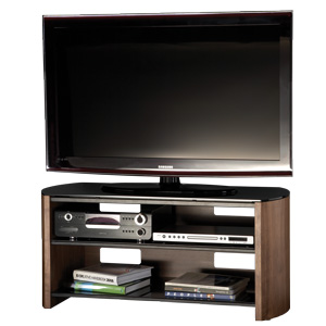 Alphason FW1100WB, 3 Shelf Support with Real Wood Veneer for LCD/Plasma Screens upto 50 with AV Equipment