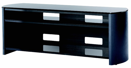 Alphason FW1350BVB, 3 Shelf Support with Real Wood Veneer for LCD/Plasma Screens upto 60 with AV Equipment