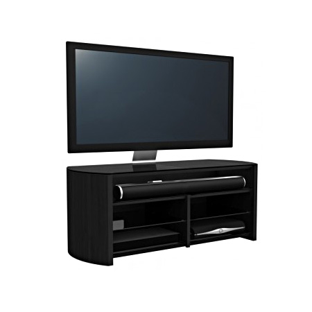 Alphason FW1350SBBLK, TV Stand in Black - Suitable for TV screens up to 60