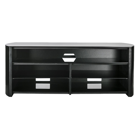 Alphason FW1350SBBLK, TV Stand in Black - Suitable for TV screens up to 60 inch