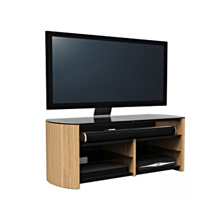Alphason FW1350SBLO, TV Stand in Light Oak - Suitable for TV screens up to 60