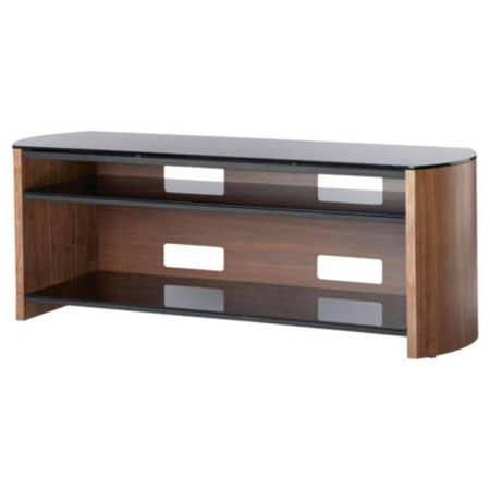 Alphason FW1350SBW, TV Stand in Walnut  - Suitable for TV screens up to 60 inch