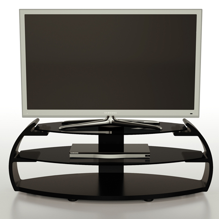 Alphason PEB11003BLK, Pebble Series TV Stand with Media Storage Suitable for Flat Screen TVs up to 50 inch