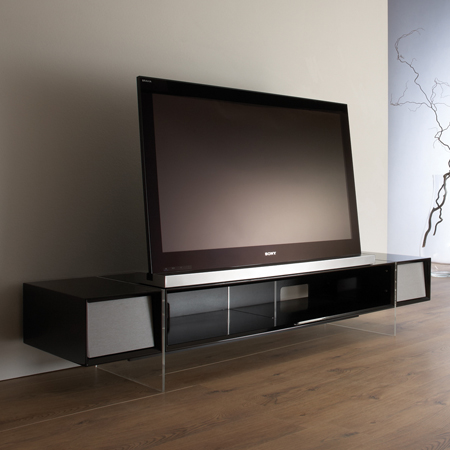 Alphason YAT1680B, Yatai Series Premium TV Stand with Media Storage Suitable for Flat Screen TVs up to 46