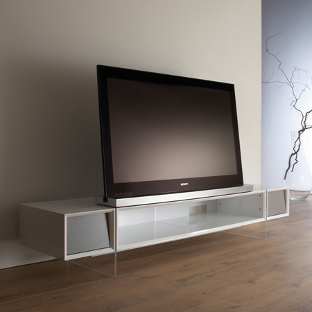 Alphason YAT1680WH, Yatai Series Premium TV Stand with Media Storage Suitable for Flat Screen TVs up to 46
