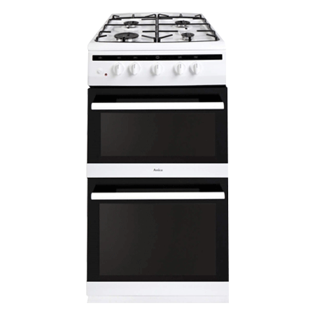 Amica 508TGG2W, 50cm Twin cavity gas cooker.