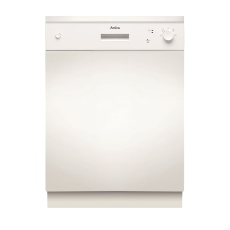 Amica ZZV634W, Semi Integrated Dishwasher with 12 place settings and A++ Energy Rating