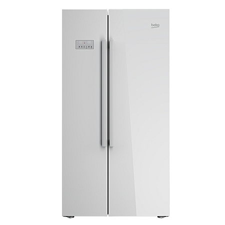 BEKO ASL141X, US Style Side by Side Fridge Freezer with A+ Energy Rating, Stainless Steel