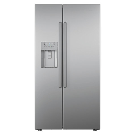 BEKO ASN541S, US Style Side By Side Fridge Freezer with Non-plumbed Ice and Water Dispenser in Silver