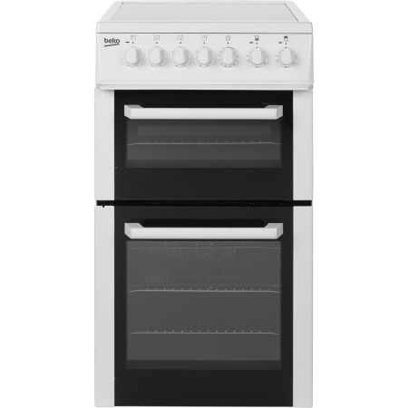 BEKO BCDVC503W, Electric Cooker White with Double Oven and 4 Zone Ceramic Hob