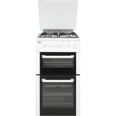 BEKO BCDVG505W, Gas Cooker White with Double Oven and 4 Burner Hob