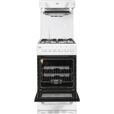BEKO BCEG501W, Gas with LPG Option Cooker with Single Oven, 4 Burner Hob and Eye Level Grill