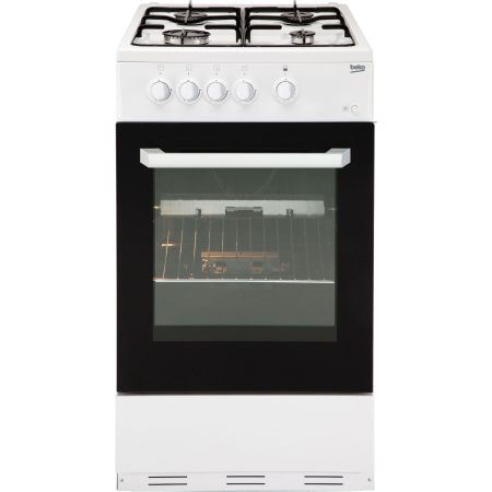 BEKO BCSG50W, Gas with LPG Option Cooker with Single Oven and 4 Burner Hob