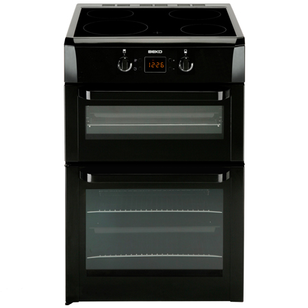 BEKO BDVI668K, 60cm Electric Cooker Black with Double Oven, 4 Zone Induction Hob and Programmer