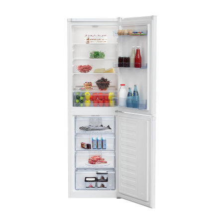 BEKO CCFM1582W, 55cm Frost Free Fridge Freezer White
