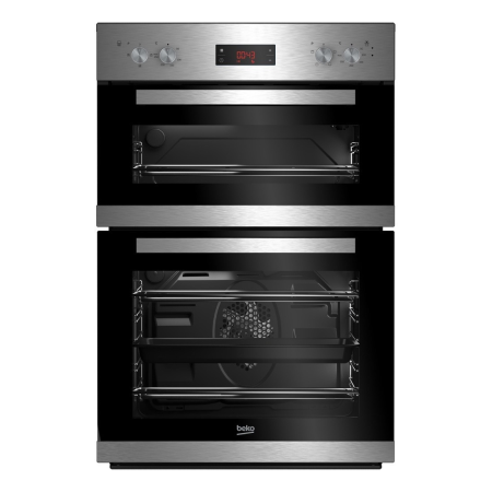 BEKO CDF22309X, Fan Assisted Electric Double Oven Stainless Steel with Programmer