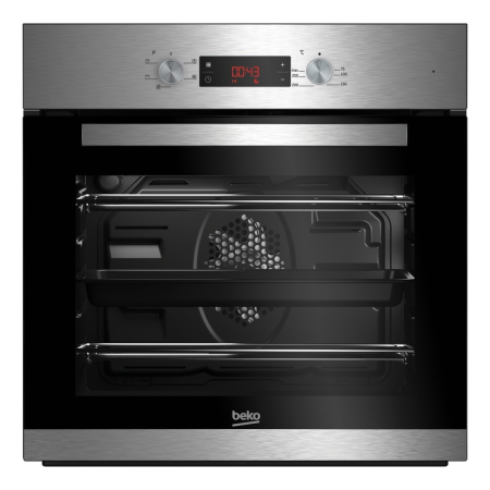 BEKO CIF81X, 59.5x59.4x56.7 Fan Assisted Electric Double Oven Stainless Steel with Programmer
