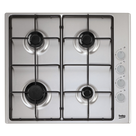 BEKO CIHG21SX, 4 Burner Gas Hob with Enamel Pan Supports