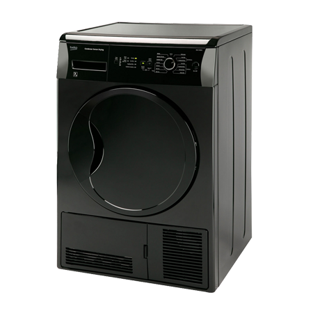 BEKO DCU7230B, Freestanding 7kg Condenser Dryer Black with Sensor