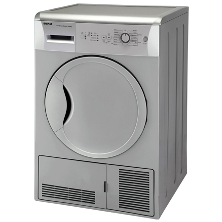 BEKO DCU7230S, 7kg Condenser Tumble Dryer with Sensor in Silver