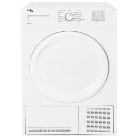BEKO DTGC8001W, 8kg Condenser Dryer SilverWhite with Sensor