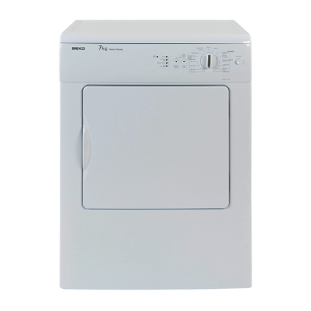 BEKO DVSC711W, Freestanding 7kg Vented Tumble Dryer. Ex-Display Model.
