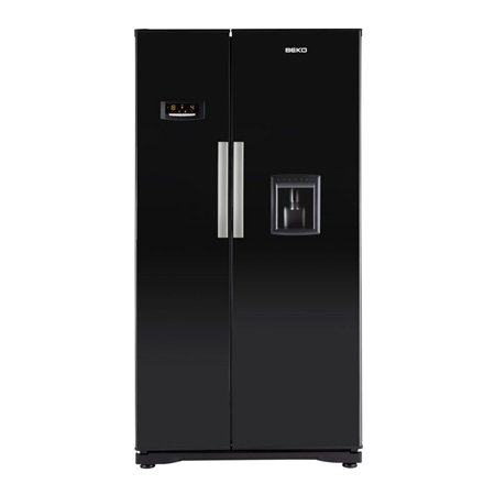 BEKO GNEV221APB, Side By Side Fridge Freezer with non Plumbed water dispenser