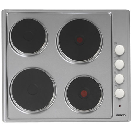 BEKO HIZE64101X, Solid Plate Hob with 4 Zones in Stainless Steel