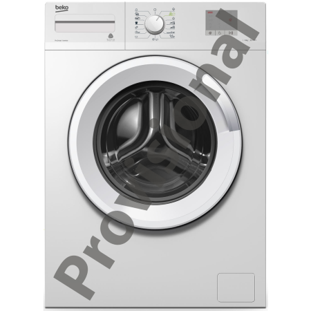 BEKO WTG620M2W, 84x60x41.5 6kg 1200rpm Washing Machine SilverWhite with Button Controls