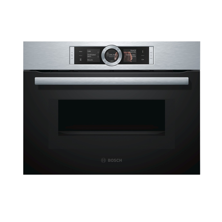 bosch cmg656bs1b built in compact oven microwave combi brushed steel fascia. Black Bedroom Furniture Sets. Home Design Ideas