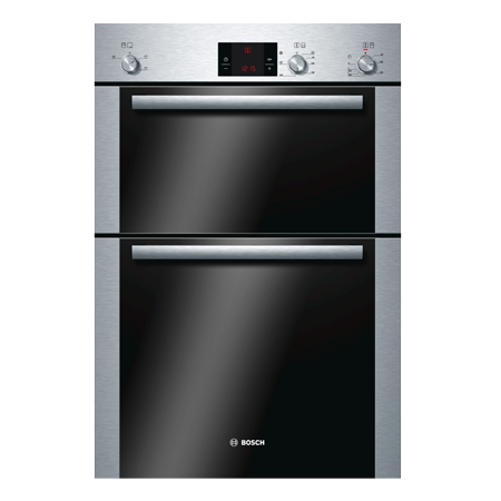 BOSCH HBM13B251B, Classixx Multifunction Built-in hot air Double Oven Brushed Steel.Ex-Display Model
