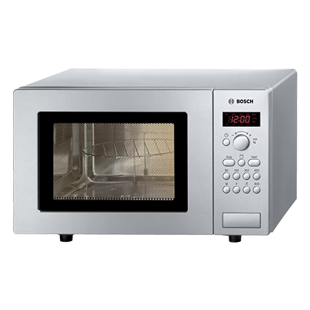 BOSCH HMT75G451B, Freestanding 800W Compact Microwave Oven with Grill Brushed Steel