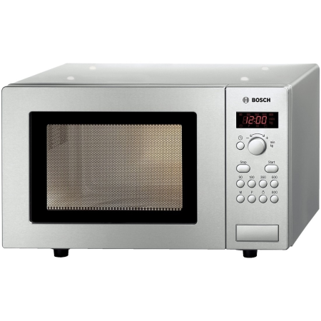 BOSCH HMT75M451B, Freestanding 800W Microwave Oven Brushed Steel
