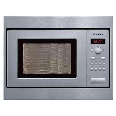 BOSCH HMT75M551B, Built-In Compact 800W Microwave Oven Brushed Steel.