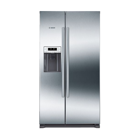 BOSCH KAD90VI20G, American Style Side By Side  Frost Free Fridge Freezer Plumbed in Inox