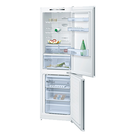 BOSCH KGN36VW35G, EXXCEL Frost Free Fridge Freezer in White, A++ Energy Rating. Ex-Display Model