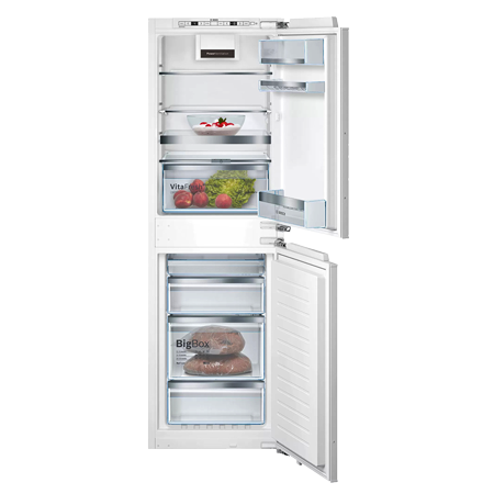 BOSCH KIN85AFE0G, Integrated 50/50 Fridge Freezer - White - A++ Rated Fixed Hinge