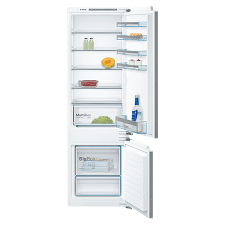 BOSCH KIV87VF30G, Built-In Low Frost Fridge Freezer with A++ Energy Rating