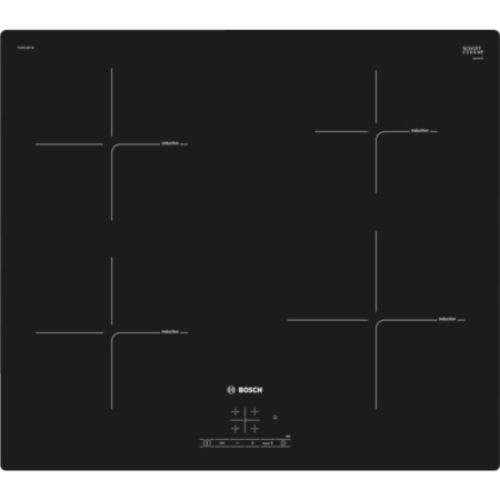 BOSCH PUE611BF1B, 4 Zone Induction Hob with Touch Controls.