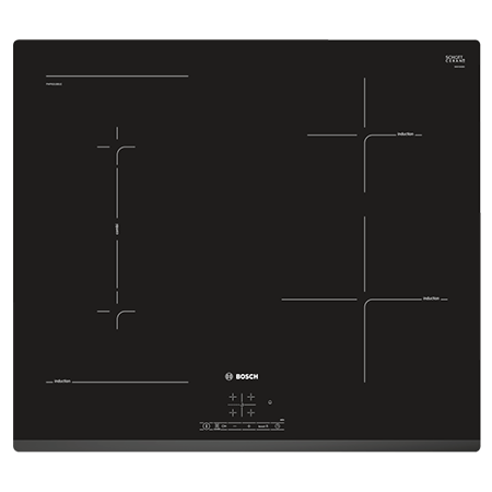 BOSCH PWP631BB1E, 60cm 4 Zone Induction Hob with Touch Controls