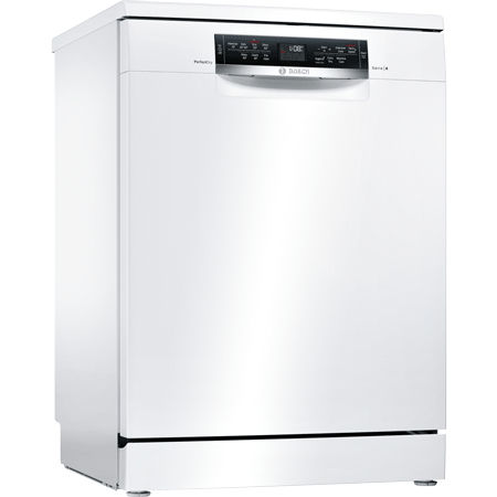 BOSCH SMS67MW00G, PerfectDry Freestanding Dishwasher in White & A+++ Energy Rating Winning Line
