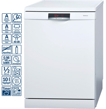 on Bosch Sms69l09gb  Logixx Series Freestanding 60cm Dishwasher