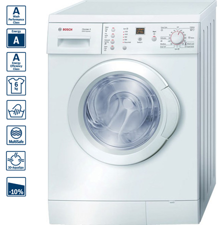 bosch wae24364gb 6kg classixx series washing machine. Black Bedroom Furniture Sets. Home Design Ideas